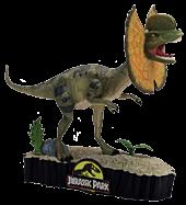 """Dilophosaurus 7"""" Premium Motion Statue"""