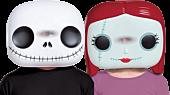 The Nightmare Before Christmas - Jack Skellington & Sally Funko Pop! Vacuform Mask Bundle (Set of 2)