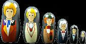 Doctor Who - Doctors 1-6 Nesting Dolls Set