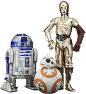 R2-D2 & C-3PO with BB-8 1/10th Scale ArtFX+ Statue