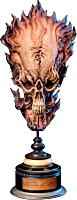 Studio Aki - Fire Skull 1:1 Scale Life-Size Skull Replica by Akihito Ikeda