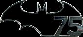 Batman - Batman 75th Anniversary Logo Black and Chrome Premium Emblem
