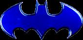 Batman - Batman Logo Blue Chrome Premium Emblem