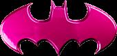 Batman - Batman Logo Pink Chrome Premium Emblem