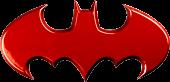 Batman - Batman Logo Red Chrome Premium Emblem