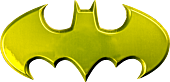 Batman - Batman Logo Yellow Chrome Premium Emblem
