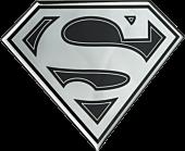 Superman - Superman Logo Black and Chrome Lensed Emblem
