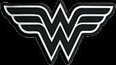 Wonder Woman - Wonder Woman Chrome Logo Lensed Emblem