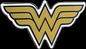 Wonder Woman - Wonder Woman Classic Yellow Logo Lensed Emblem