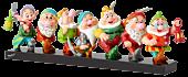 """Snow White and the Seven Dwarfs - Seven Dwarfs 18"""" Statue by Romero Britto"""