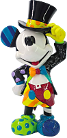 """Disney - Mickey Mouse with Top Hat 8"""" Statue by Romero Britto"""