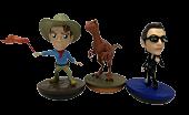 "Jurassic Park - Series 1 Revos 4"" Vinyl Figure Bundle (Set of 3)"