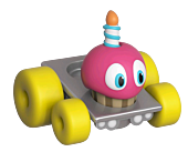 "Five Nights at Freddy's - Cupcake Super Racer 2"" Die-Cast Metal Car"