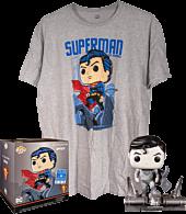 Superman: For Tomorrow - Superman Black & White Jim Lee Collection Deluxe Funko Pop! Vinyl Figure & T-Shirt Box.