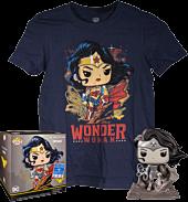 Wonder Woman - Wonder Woman Black & White Jim Lee Collection Deluxe Funko Pop! Vinyl Figure & T-Shirt Box Set.