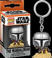 Star Wars: The Mandalorian - The Mandalorian with Blaster Pocket Pop! Vinyl Keychain