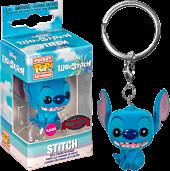 Lilo & Stitch - Stitch Seated Flocked Pocket Pop! Vinyl Keychain