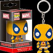 Yellow Deadpool Pocket Pop! Keychain