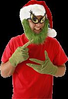 Dr Seuss - The Grinch Santa Hat with Beard