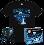 Game of Thrones - Icy Viserion Glow in the Dark Funko Pop! Vinyl Figure & T-Shirt Box Set