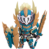 "Monster Hunter World: Iceborn - Male Zinogre Alpha Armor Ver. 4"" Nendoroid Action Figure"