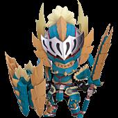 "Monster Hunter World: Iceborn - Male Zinogre Alpha Armor Ver. 4"" Nendoroid Action Figure"