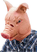 Happy Pig - Latex Full Head Mask