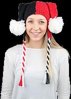 Harley Quinn Knit Beanie - Main Image