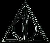Harry Potter - Deathly Hallows 3D Black Chrome Premium Emblem