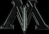 Harry Potter - Ministry of Magic 3D Black Chrome Premium Emblem