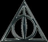 Harry Potter - Deathly Hallows Chrome Premium Emblem