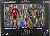 "Avengers 4: Endgame - Iron Man Mark LXXXV (85) vs. Thanos Marvel Legends Series 6"" Scale Action Figure 2-Pack"