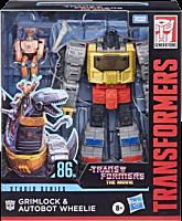 "Transformers: The Movie (1986) - Grimlock & Autobot Wheelie Studio Series 8"" Action Figure"