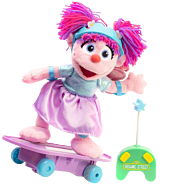 "Sesame Street - Abby Cadabby Learn to Skate 11"" Plush with Remote Control Skateboard 1"