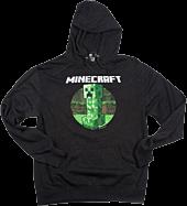 Minecraft - Retro Creeper Hoodie Charcoal