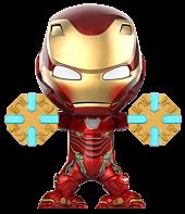 "Avengers 3: Infinity War - Iron Man Mark L (50) Power Mallet Cosbaby 3.75"" Hot Toys Bobble-Head Figure"