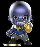 "Avengers 3: Infinity War - Thanos Metallic Cosbaby 3.75"" Hot Toys Bobble-Head Figure"