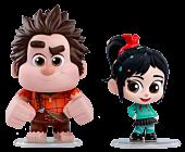 Ralph Breaks the Internet - Wreck-It Ralph & Vanellope von Schweetz Cosbaby Hot Toys Bobble-Head Figure Collectable 2-Pack