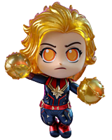 "Avengers 4: Endgame - Captain Marvel Fighting Luminous Reflective Effect Cosbaby 3.75"" Hot Toys Bobble-Head Figure"