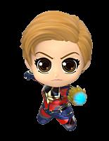 """Avengers 4: Endgame - Captain Marvel Battling Cosbaby 3.75"""" Hot Toys Bobble-Head Figure"""