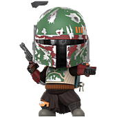 Star Wars: The Mandalorian - Boba Fett Cosbaby (S) Hot Toys Figure