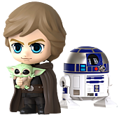 Star Wars: The Mandalorian - Luke Skywalker, R2-D2 & The Child (Grogu) Cosbaby (S) Hot Toys Figure Set