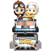 Back to the Future Part II - Marty McFly & Doc Brown CosRider Hot Toys Figure