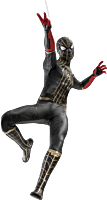 Spider-Man 3: No Way Home - Spider-Man in Black & Gold Suit 1/6th Scale Hot Toys Action Figure