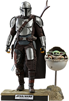 Star Wars: The Mandalorian - The Mandalorian & The Child (Baby Yoda) Deluxe 1/6th Scale Hot Toys Action Figure 2-Pack