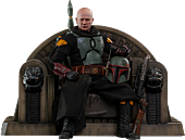 Star Wars: The Mandalorian - Boba Fett with Throne Deluxe 1/6th Scale Hot Toys Action Figure