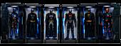 """Batman: Arkham Knight - Batman Armoury 5"""" Miniature Set (Set of 6)"""