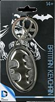 Batman Logo Pewter Keychain