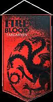 Game of Thrones - Targaryen Fire and Blood Satin Banner