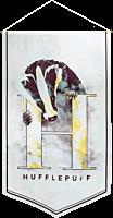 Harry Potter - Hufflepuff Watercolour Satin Banner